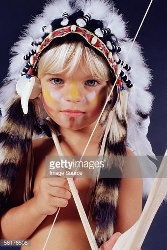 Como hacer un maquillaje infantil de indio americano