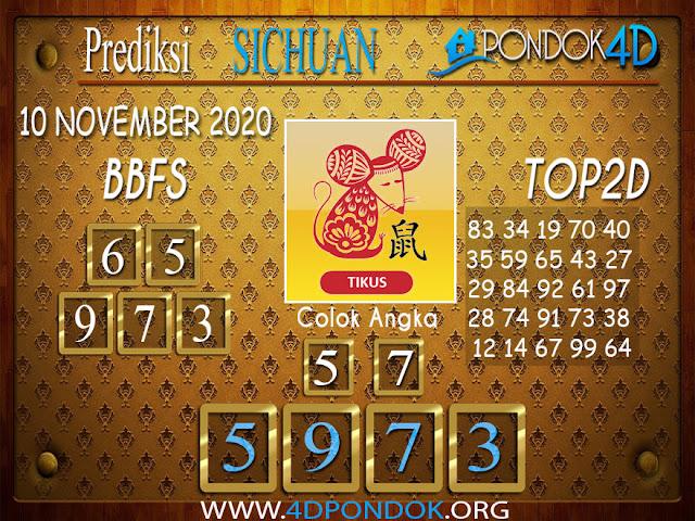 Prediksi Togel SICHUAN PONDOK4D 10 NOVEMBER 2020