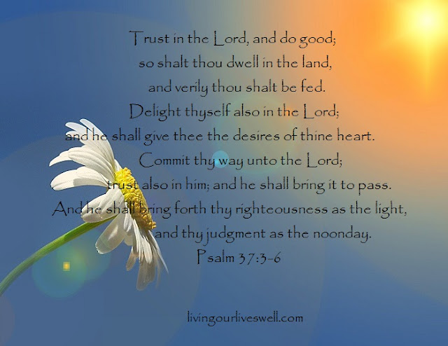 Meditating on God's Promises from  Psalm 37:3-6