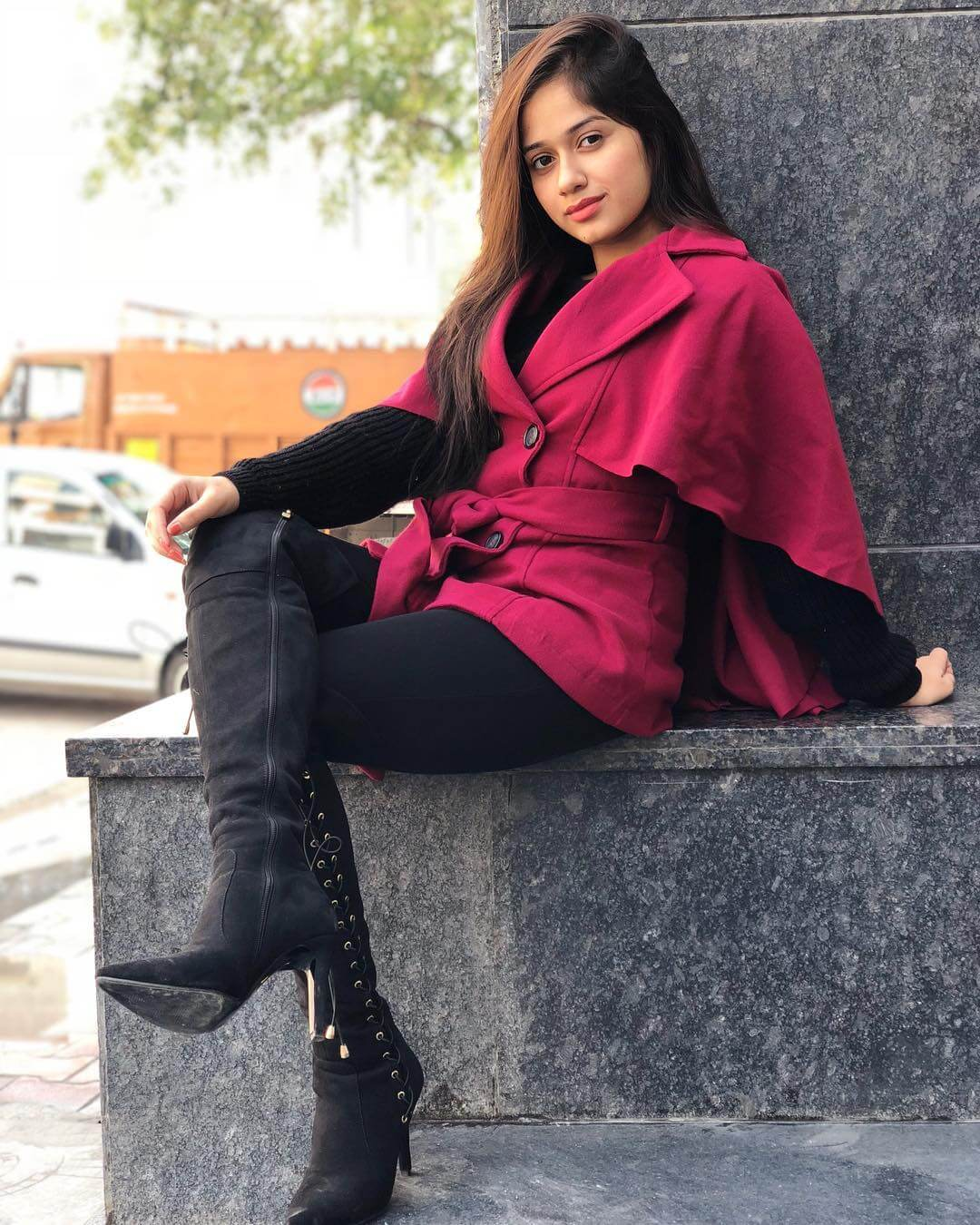 Jannat Zubair In Red Dress