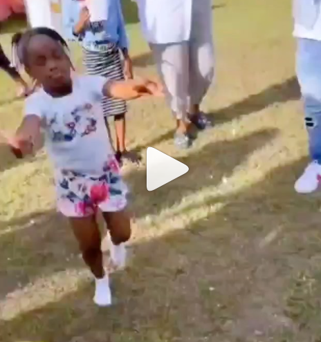 Watch the moment Davido Playfully spanked his daughter, Hailey for twerking at her birthday party (video)