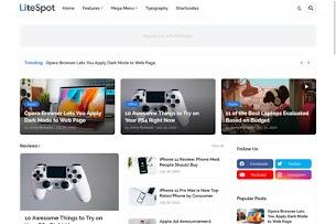 LiteSpot - Responsive News & Magazine Blogger Template