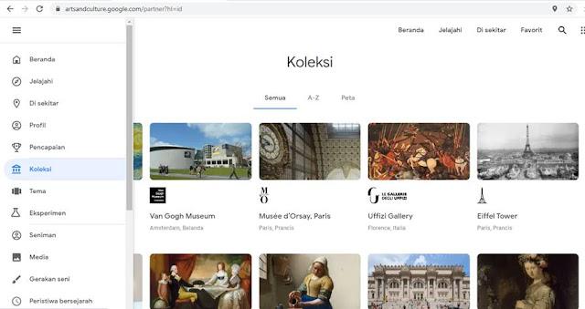 Fitur Koleksi di Google Arts and Culture