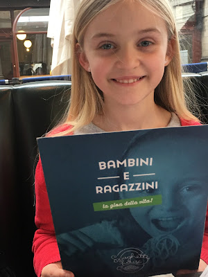 Bambini menu Spaghetti House