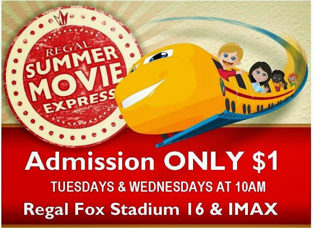 The Regal Summer Movie Express heads back to Brambleton for 9 weeks this summer