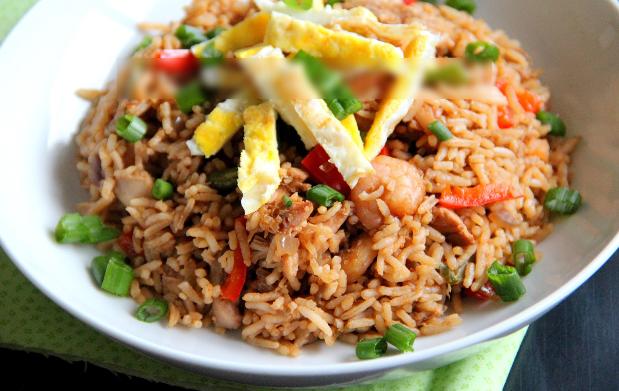 Resep nasi goreng kari vegetarian