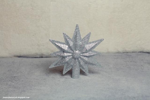 brokatowa gwiazda na choinkę