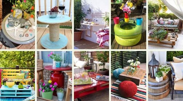 DIY Tραπέζια για Κήπο - Μπαλκόνι