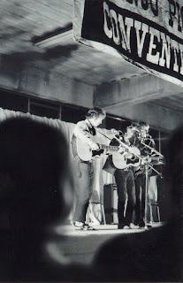 Steve Robinson, Denis Leong and Simon Morris at the Hamilton Banjo Pickers' Convention, 1973
