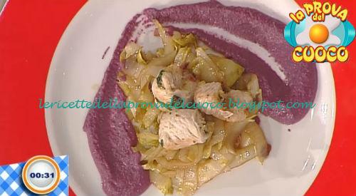 Braciole di tacchino e indivia con purè di carote ricetta Piparo da Prova del Cuoco
