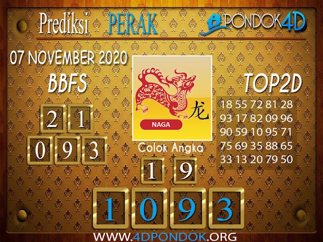 Prediksi Togel PERAK PONDOK4D 07 NOVEMBER 2020