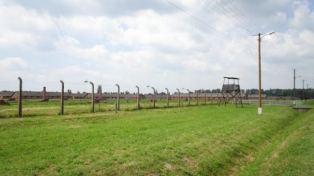 Observing prisoners in Auschwitz