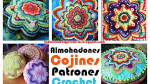 Cojines ~ Almohadones muy creativos al crochet