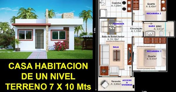 Plano De Casa En Terreno De 7 X 10 Metros Proyectos De Casas