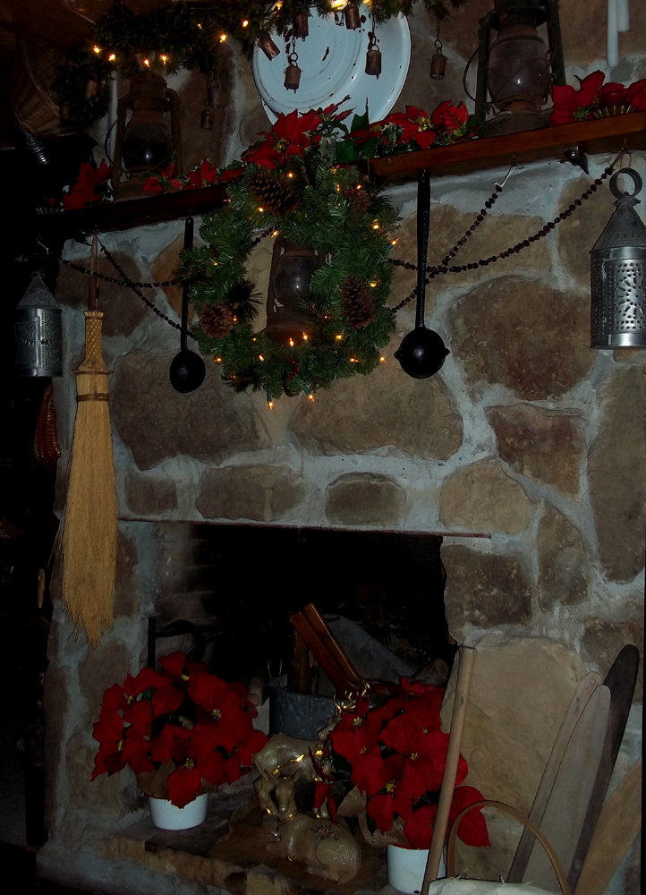 York Mountain Primitives Rustic Farmhouse Fireplace