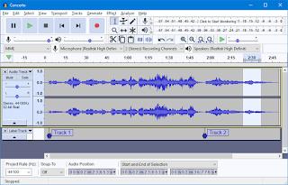 برنامج Audacity لتحرير الصوت
