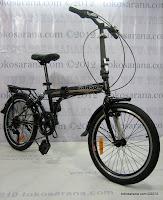 4 Sepeda Lipat Darson 6 Speed Shimano Rangka dengan Suspensi 20 Inci