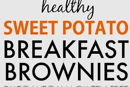 Healthy Sweet Potato Breakfast Brownies Recipe