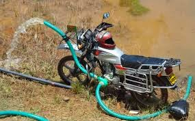 Motorcycle Used In Pumping Water From A River