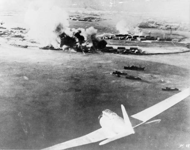 Fotografías del ataque a Pearl Harbor desde la perspectiva japonesa