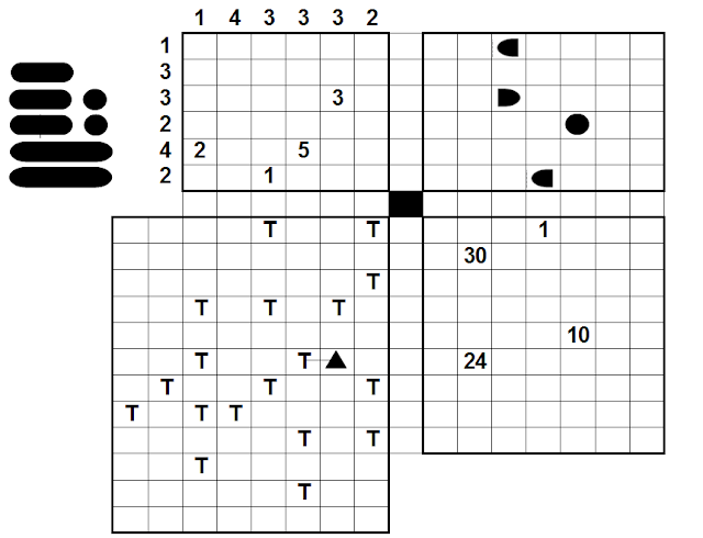 Logical Puzzles: Four Squares