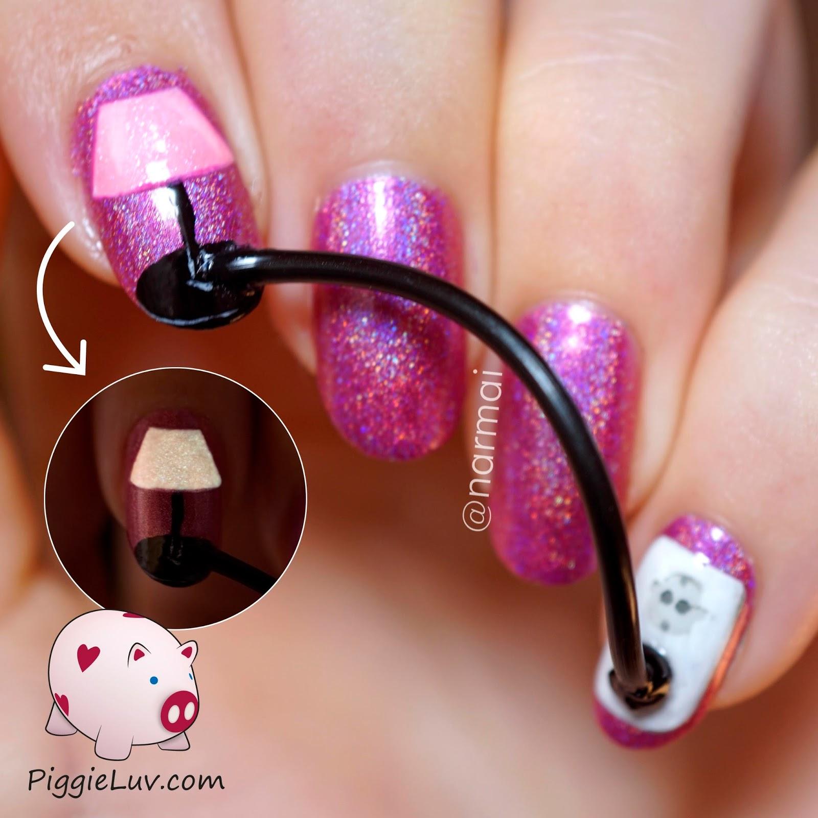 Piggieluv Plugged In Nail Art