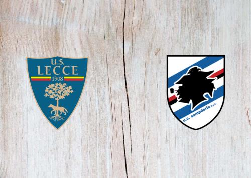 Lecce vs Sampdoria -Highlights 01 July 2020