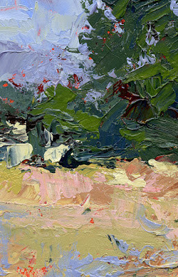 art abstract painting landscape detail zooomed in