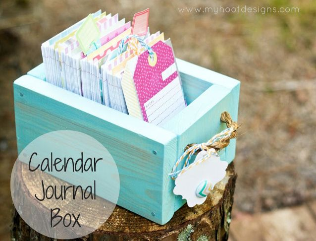 12 Month Calendar Journal Box