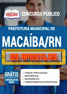 Apostila Concurso Prefeitura de Macaíba RN 2020 PDF Edital Online Inscrições