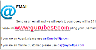 bet9ja email address