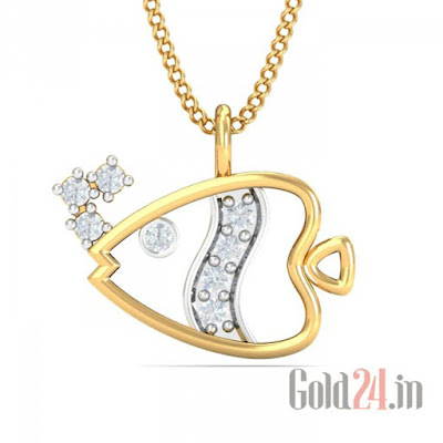 KuberBox Gold Pendant with Diamonds 5