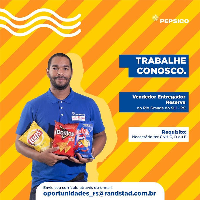 A PepsiCo Brasil contrata Motorista entregador Categoria C, D ou E