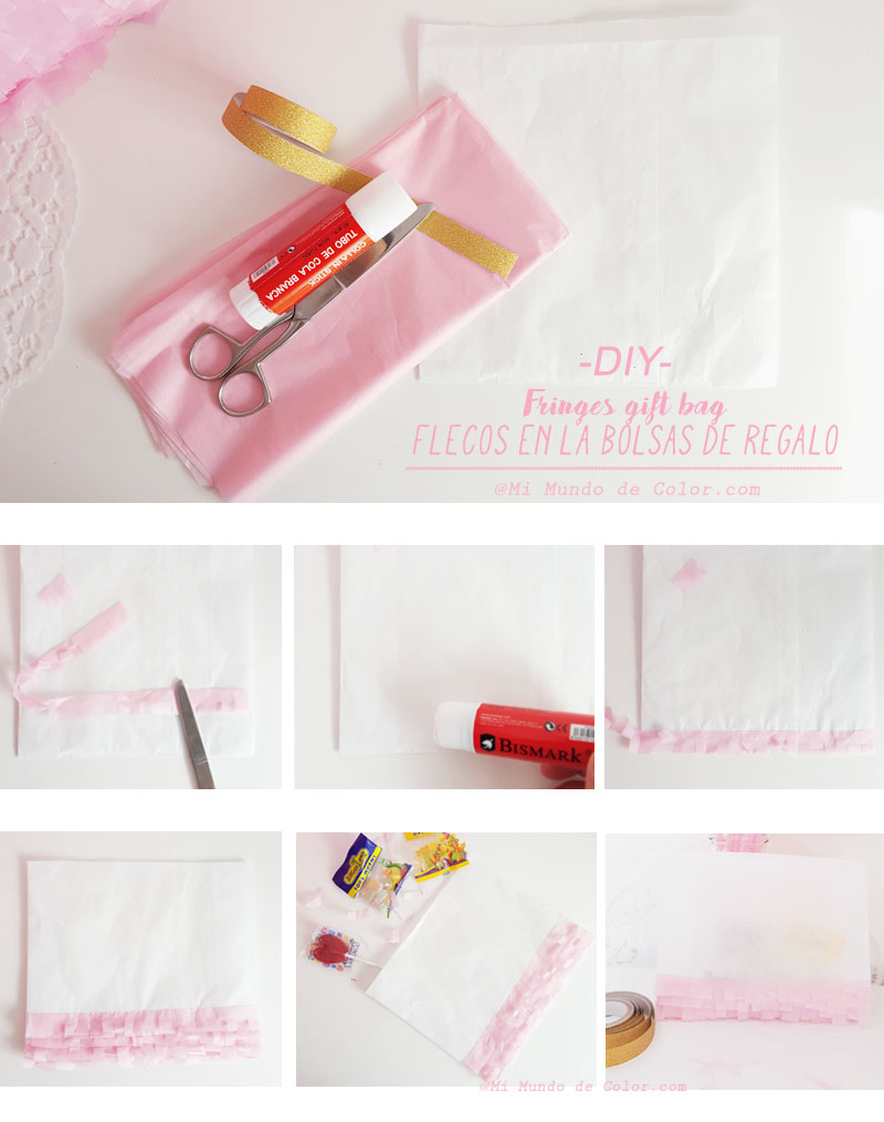 diy fringes gift bag