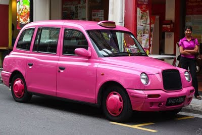 taxi rose à Paris ? non londres