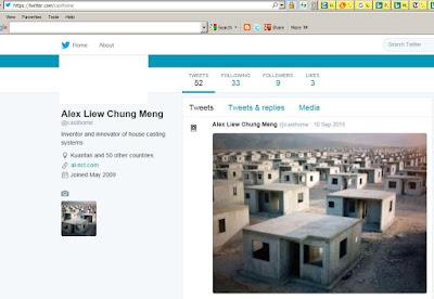 Alex Liew Chung Meng Twitter Post