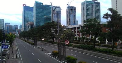 Pagi Perdana 2017, Jalanan di Jakarta Lengang