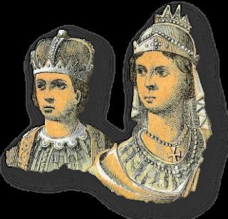 Η Ειρήνη η Αθηναία & ο ανήλικος γιος της Κωνσταντίνος ΣΤ΄