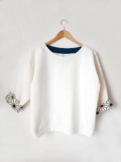 pull créatrice créateur vêtement paris ékicé printemps blanc tissu japonais asanhoa