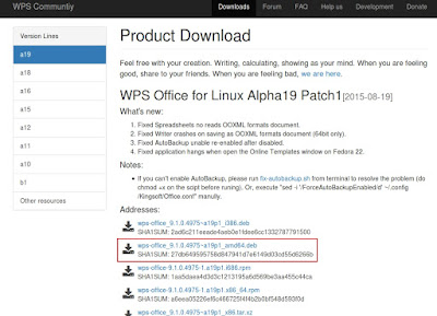 WPS Office Alpha 19 Patch 1 DOWNLOAD