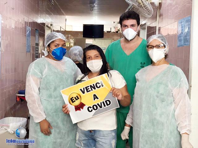 Emoção no hospital de Caraúbas: mais uma paciente vence a Covid-19