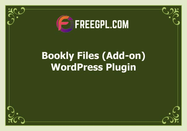 Bookly Files (Add-on) Free Download
