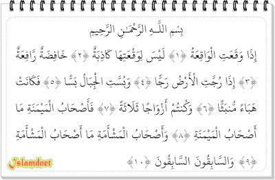 sebagaimana terdapat pada ayat pertama surah ini Surah Al-Waaqi'ah dan Artinya