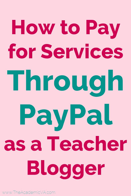 How to Pay Through PayPal as a Teacher Blogger --- Are you a teacher blogger or teacherpreneur? Then you HAVE to read this post! Make sure you are paying for items through PayPal in the correct manner. This could include paying for website design, sending money to another seller for a giveaway, paying your virtual assistant for work completed, and more. Click through for all the details and to ensure your PayPal account is NOT going to get shut down.