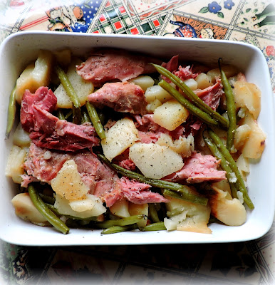 Crock Pot Ham, Beans and Potatoes