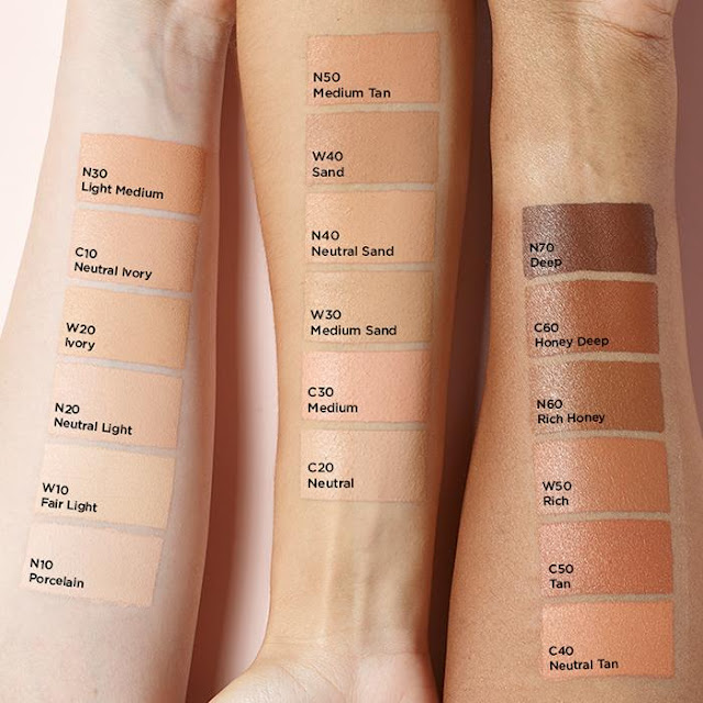 Available in 18 shades (all exclusive to Avon!)  Shades available in Warm (W), Neutral (N) and Cool (C).
