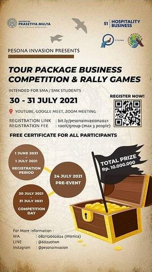 "PESONA INVASION 2021  tema ""Journey To Sustainable Tourism"""