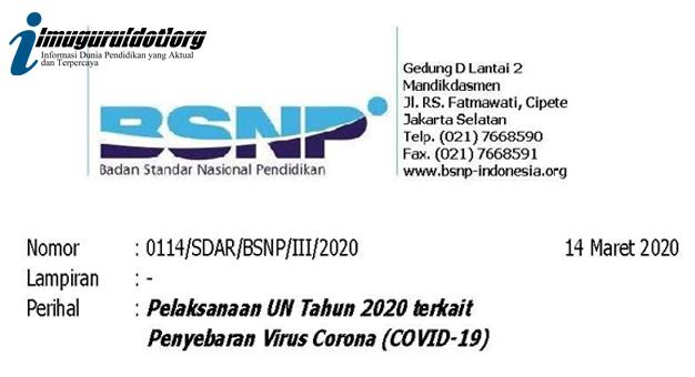 Pelaksanaan UN 2020
