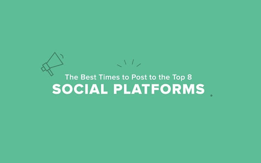 The Best Times to Post to the Top 8 Social Networks [Infographic]