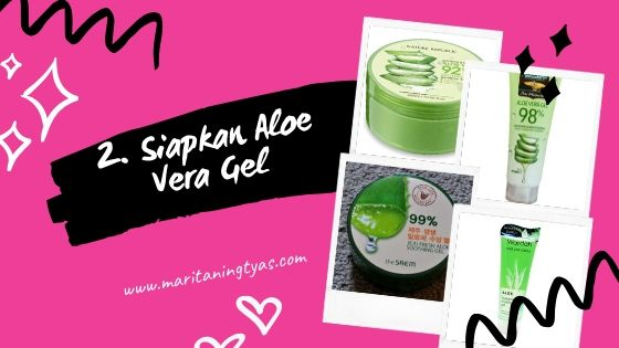 aloe vera gel untuk homemade setting spray